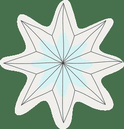 Creased Snowflake