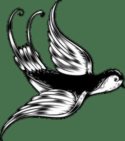 Landing Crossbill