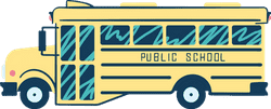 Drawn School Bus Side