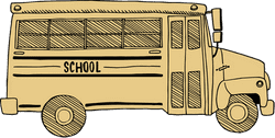 Drawn School Bus