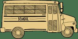 Drawn School Bus