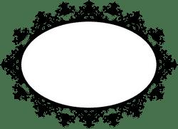 Frilly Oval Frame