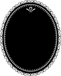 Dark Oval Decal