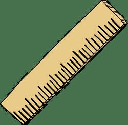 Drawn Wooden Ruler