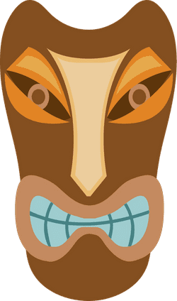 Grimacing Tiki Mask