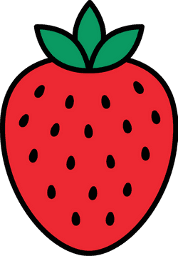 Outlined Strawberry